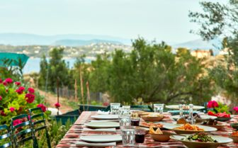 Outdoor Dining at the Poseidonion