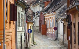 Traditional Cobbled Street, Transylvania