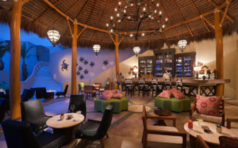 Outdoor lounge at Capella Pedregal hotel