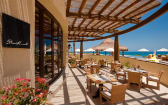 The terrace with ocean view at Capella Pedregal