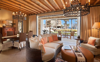 The living room at Capella Pedregal, luxury hotel in Mexico