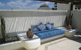 The rooftop terrace at las Ventanas al Paraiso, luxury hotel in Mexico