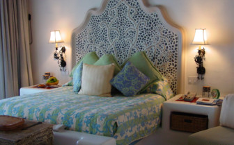 Bed at the junior suite at las Ventanas al Paraiso