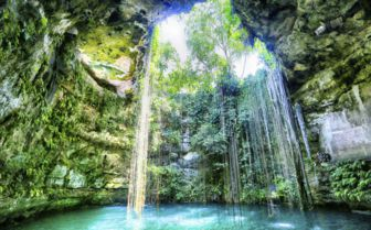 Cenote in Yucatan, Mexico