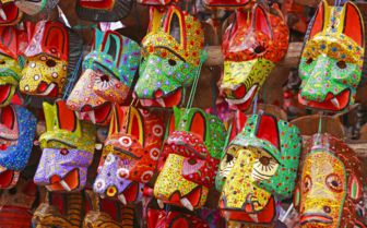 Masks in Chichicastenango