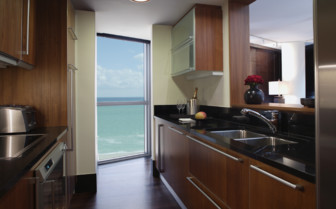 Suite kitchen at The Setai hotel