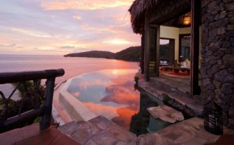 Peninsula Vila Terrace at Sunset, Laucala Island