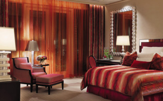 Luxury bedroom at The Wynn Las Vegas and Encore Resort