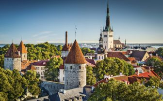 Aerial View of Tallin, Estonia