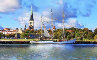 City View of Tallinn, Estonia