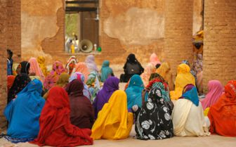 Woman Praying at the Mosque, Sudan