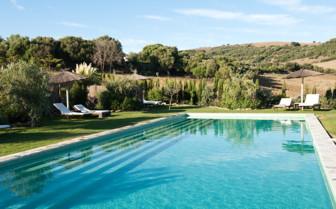 The swimming pool at Casa La Siesta, luxury hotel in Spain