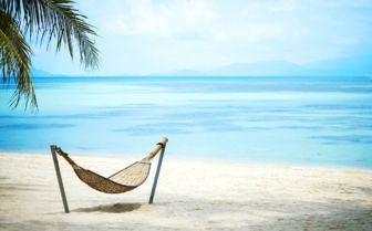 Image of a beach hammock in Thailand
