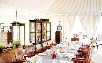 The dining tent at Sans Camp