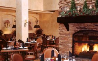 The dining room at Tenaya Lodge hotel