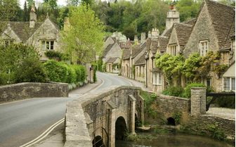 A Cotswold village in Wiltshire, Castle Coombe