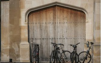 Bicycles outside an Oxford college