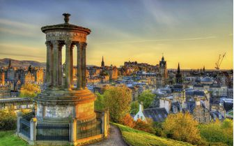 Pictured here is Edinburgh's Dugald Stewart Monument
