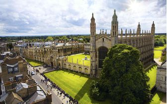 A bird's-eye view of King's College Chapel, Cambridge