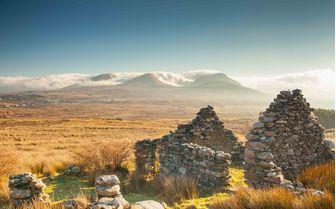 An image of the Renvyle Ruin, Connemara