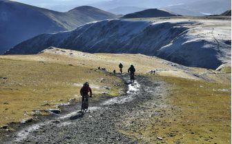 An image of people mountain biking in Helvellyn