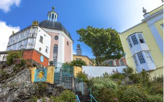 A picture of some Portmeirion Houses in Gwynedd