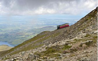 An image of a steam train on the Snowdon Mountain Railway