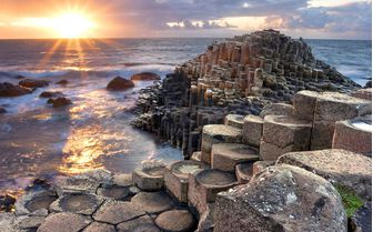 Pictured is Northern Ireland's famous Giant's Causeway