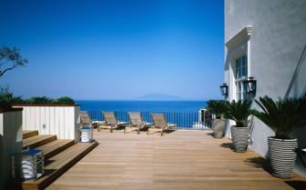 The balcony at JK Place Capri, luxury hotel in Italy