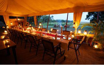 Dinner at Elephant Pepper Camp