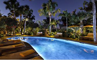 villa marie pool at night
