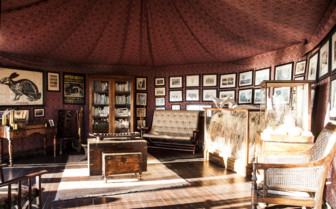 Library and Museum tent at Jacks Camp