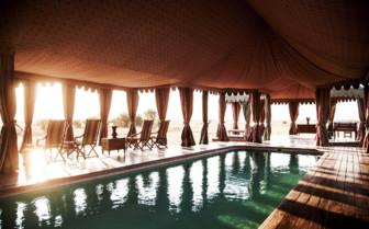 The pool at Jacks Camp, luxury camp in Botswana