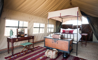 Double Tent at Camp Kalahari, luxury camp in Botswana