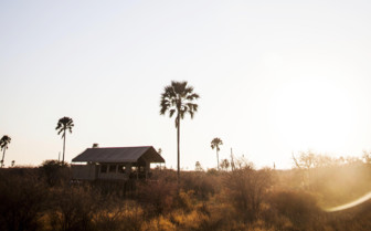Tent Exterior at Camp Kalahari, luxury camp in Botswana