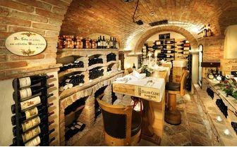 Wine Cellar at the Arlberg Hospiz, Austria