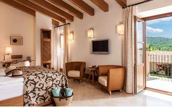 Bedroom at Castell son Claret