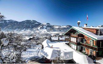 Winter view at Tennerhof Kitzbuhel