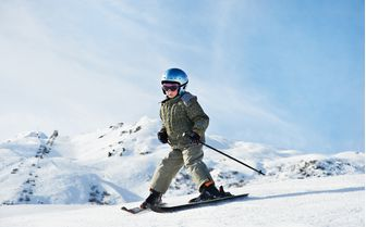 Child skiing in the Three Valleys