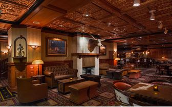 Luxury Texas hotel bar