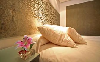 Bedroom details at Palacio del Bailio
