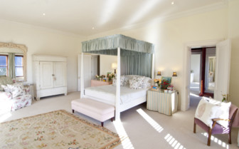 Spacious bedroom at Kurland Villa, luxury hotel in South Africa