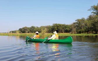 Canoeing at Ngwenya Channel