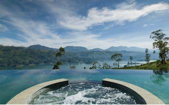 pool view over lake