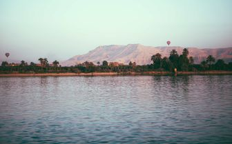 View over the Mountains from the Nile