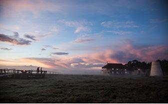 Dawn at the lodge