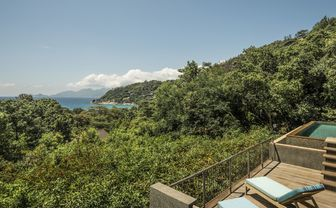 View from the ocean view villa