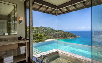 Bathroom at a Four Seasons Seychelles villa