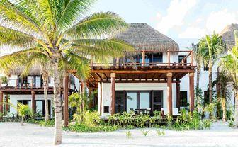 Exterior of a beach suite at hotel Esencia