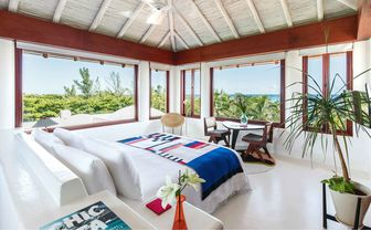 Master suite bedroom with view